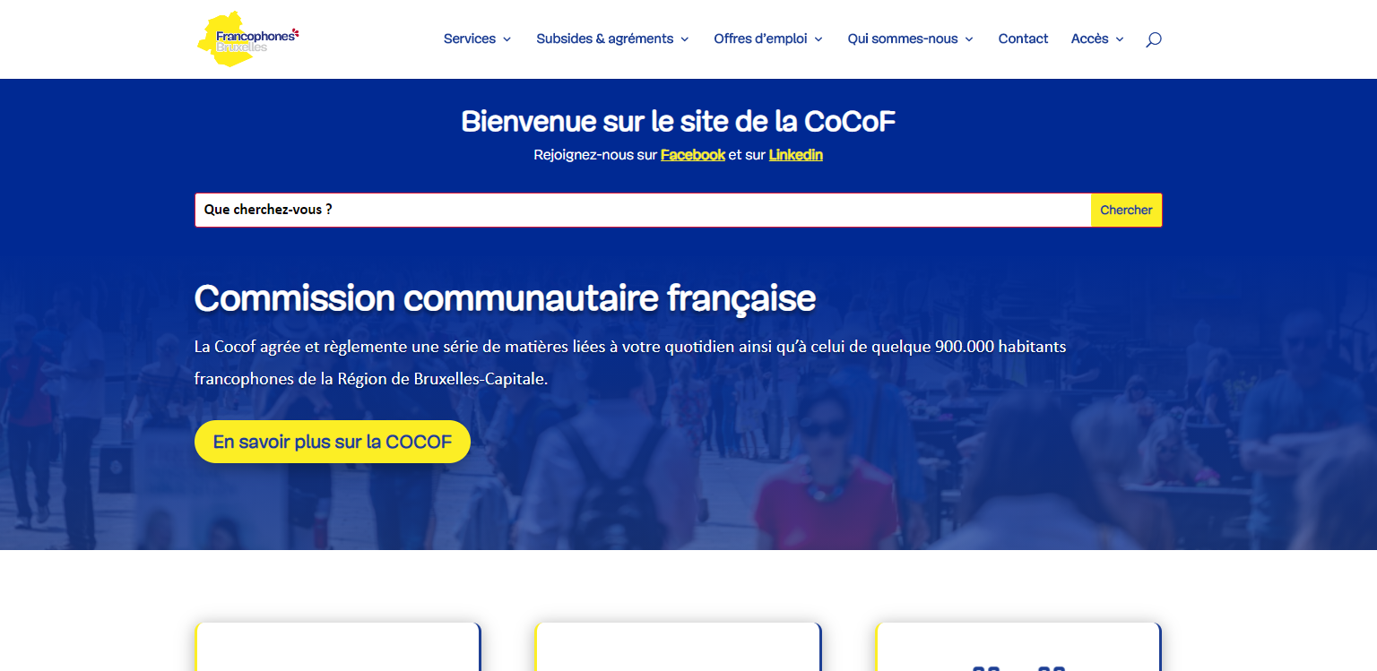Offres d'emplois | Service public francophone bruxellois COCOF