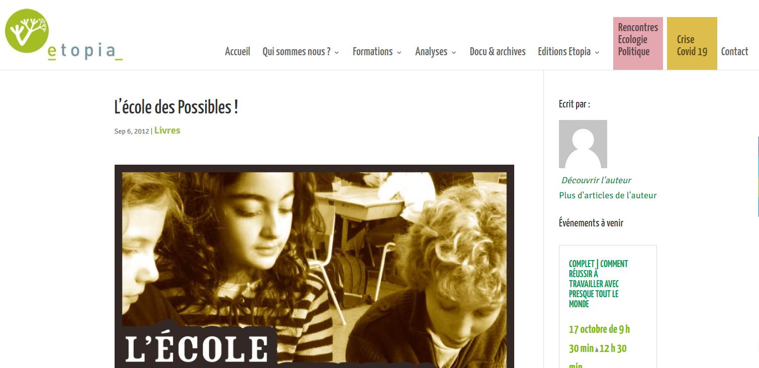 Etopia | L'école des Possibles!