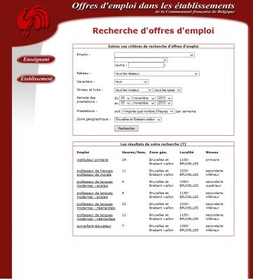 pages offres d emploi