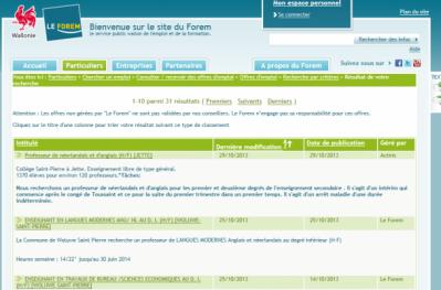 Les offres d'emploi populaires Belgique Recherche d'emploi par villes, emploi Belgique jooble – с'est un site où vous pouvez chercher un emploi sur l'ensemble d'Internet.